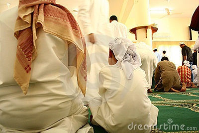 Muslims at mosque