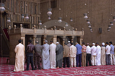 Muslims Praying in a Mosque, Islam Religion Editorial Image