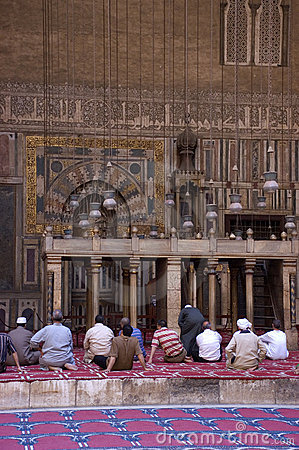 Muslims Praying in a Mosque, Islam Religion Editorial Photo