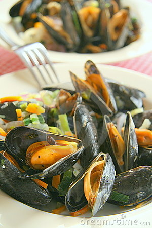 Free Mussels Dish Royalty Free Stock Image - 6342986