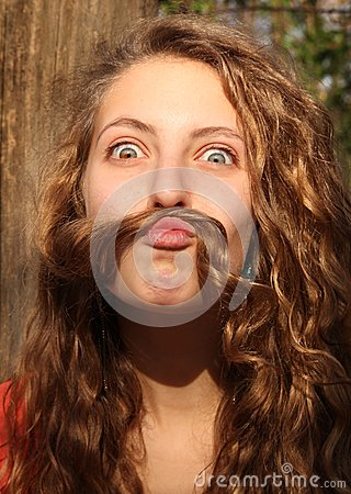 Mustache with hair