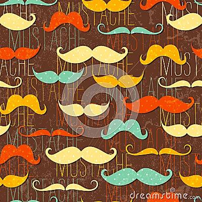 Free Mustache Seamless Pattern Royalty Free Stock Photo - 28628505