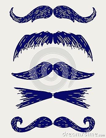 Mustache sketch