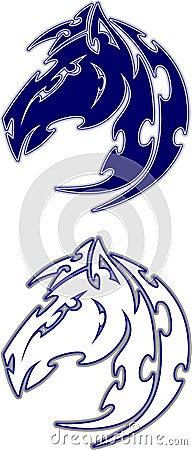 Mustang / Bronco Mascot  vector Logo