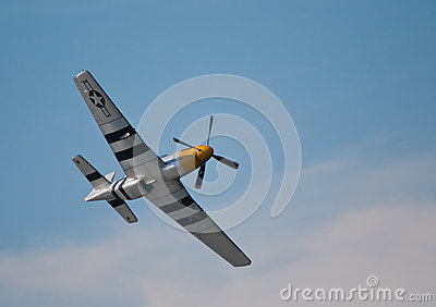 Mustang flying over the clouds Editorial Stock Photo