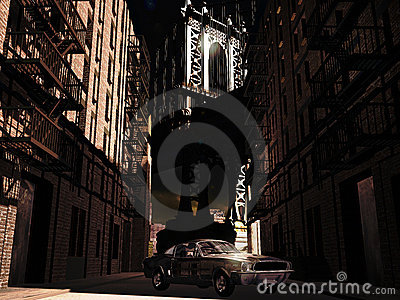 Mustango 1967 en Manhattan
