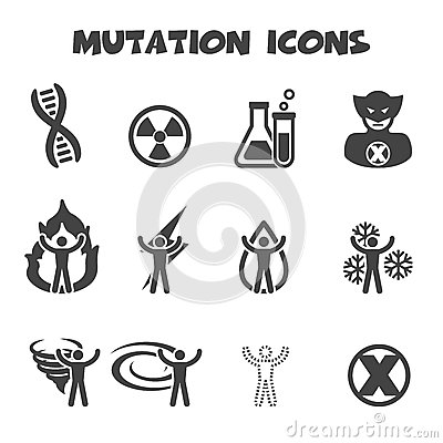 Free Mutation Icons Stock Image - 40981261