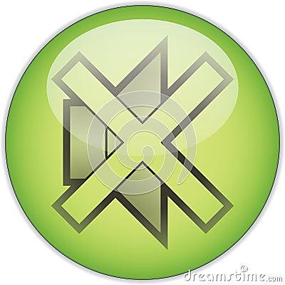 Mute green button