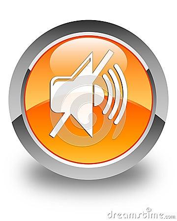 Free Mute Volume Icon Glossy Orange Round Button Stock Images - 104720034