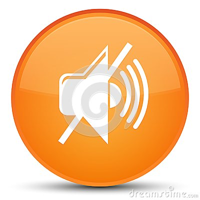 Free Mute Volume Icon Special Orange Round Button Royalty Free Stock Photography - 104815877