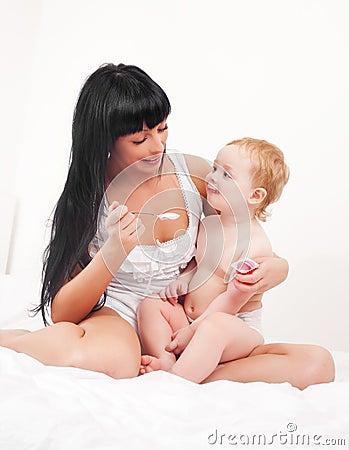 Mutter und Schätzchen