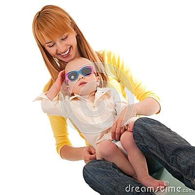 Mutter- und Sohnumarmung
