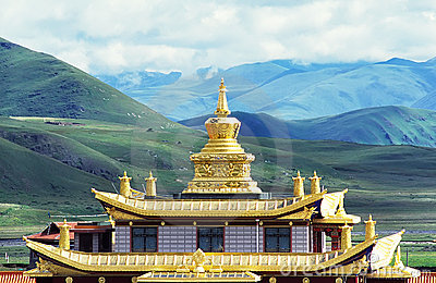 Muya golden tower(golden roof of temple)
