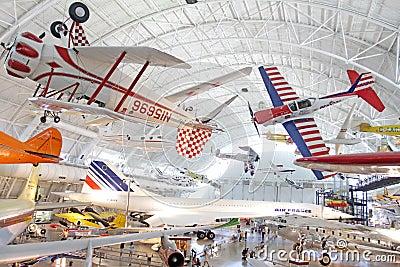 Muzeum lotnicza przestrzeń Zdjęcie Editorial