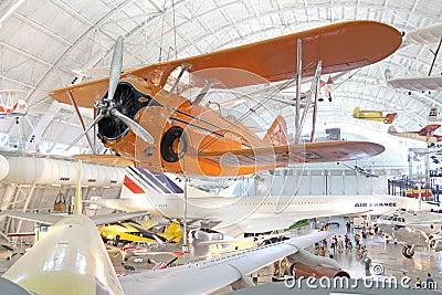 Muzeum lotnicza przestrzeń Fotografia Editorial