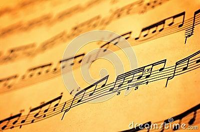 Muzyczny prześcieradło