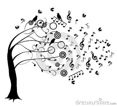 Muzykalny drzewo