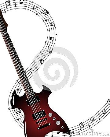 Muzykalny grunge tło