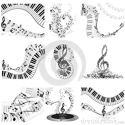 Muzykalnych notatek personelu set