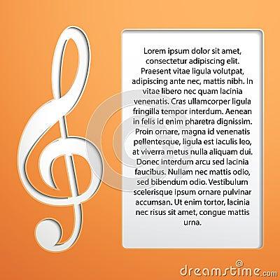 Muzyki notatka - treble clef