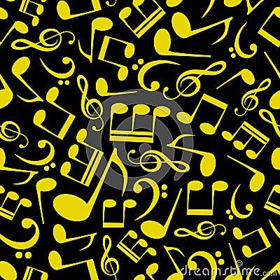 Muzyki notatki wzór eps10