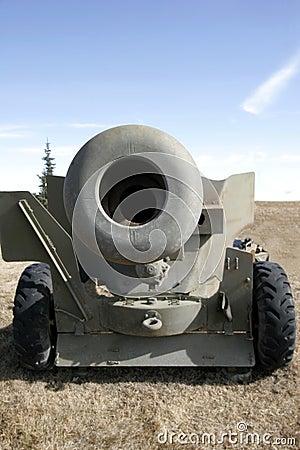 Muzzle of artillery gun