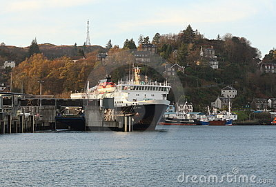 MV Isle of Mull in Oban Harbour Editorial Image