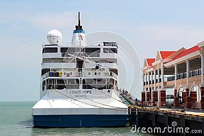 MV Logos Hope Ship Editorial Photography