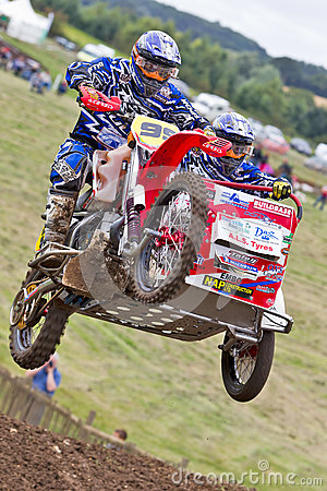 MX sidecar jump Editorial Stock Image