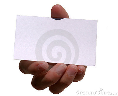 My card (blank for your text)
