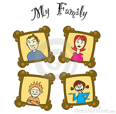 My family on frames