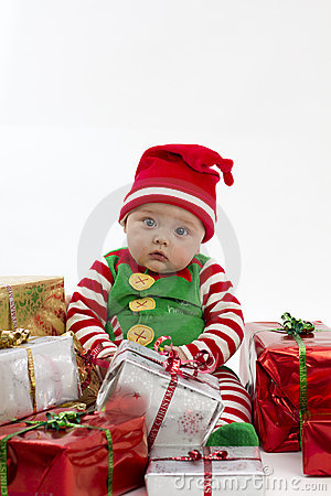 Free My First Christmas Presents Stock Image - 16840781