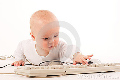 My First Computer Royalty Free Stock Photos - Image: 3020228