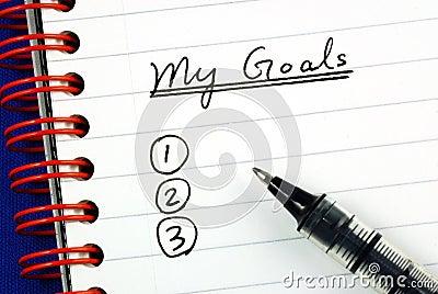 My goals list