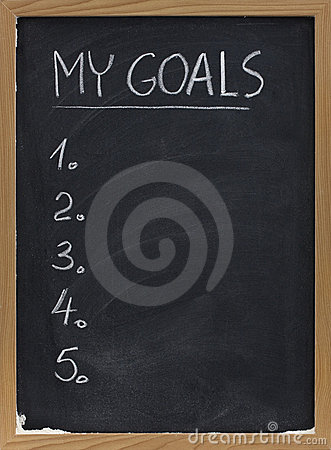 My goals list on blackboard