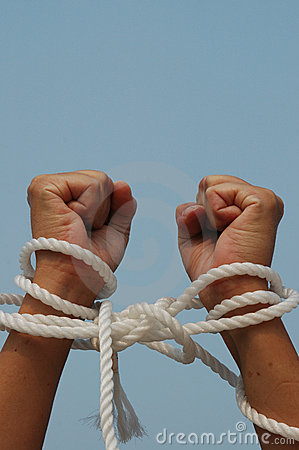 Free My Hands Are Tied Royalty Free Stock Photo - 174135