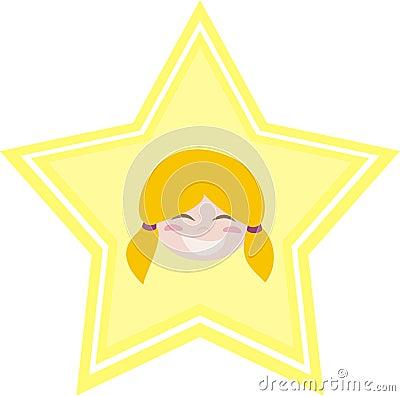 My happy little blond girl is my shining star