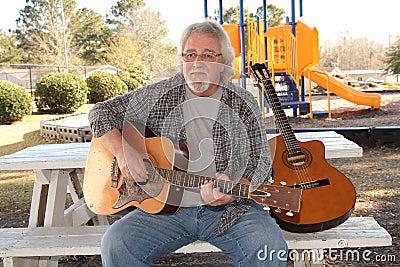 man guitar
