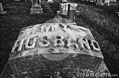 My Husband tombstone