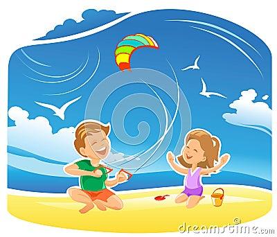 My Kite flying high