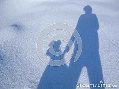 My and my dog´s shadow