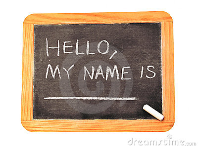 My name is ..