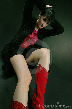 Free My Red Boots Royalty Free Stock Photography - 666117