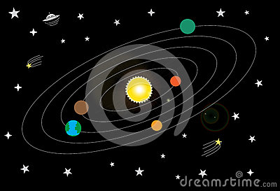 My Solar System And Space Stock Vector - Image: 53702869