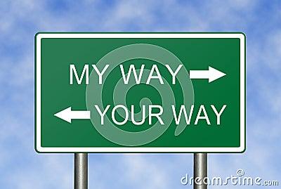 My Way Your Way