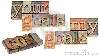 My and your  goals in wood type