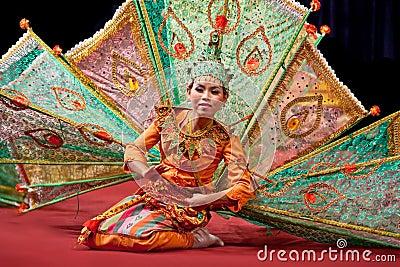 Myanmar classical Dance Editorial Image
