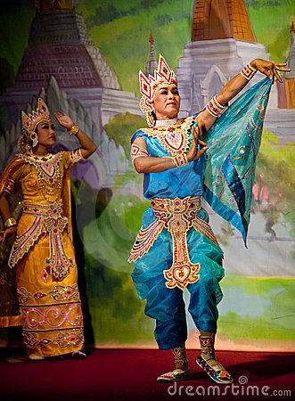 Myanmar Classical Dance Editorial Photography