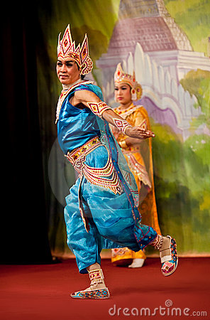 Myanmar Folk Dance Editorial Photography