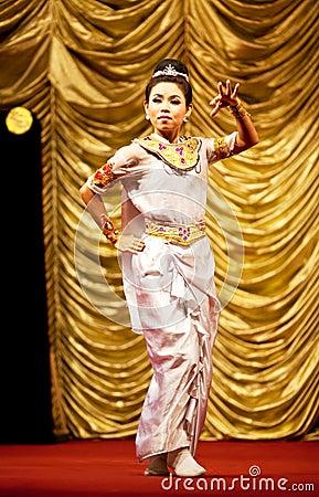 Myanmar Folk Dance Editorial Image